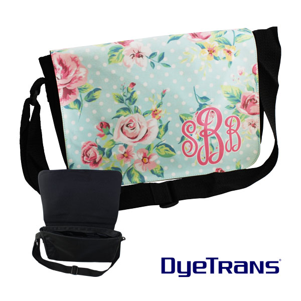 DyeTrans Sublimation Blank Messenger Bag with Flap