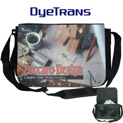 DyeTrans Sublimation Blank Reporter Bag w/Flap
