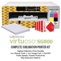 Sawgrass Virtuoso SG800 Complete Sublimation System with High Capacity Inks