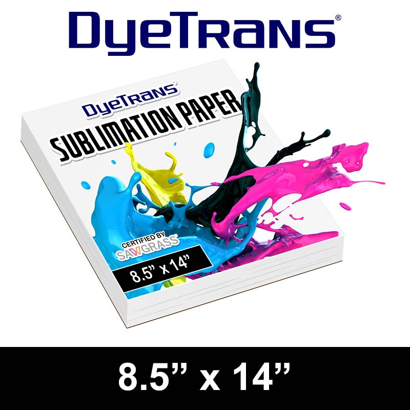 8.5x14 DyeTrans Sublimation Paper Cut Sheet Paper
