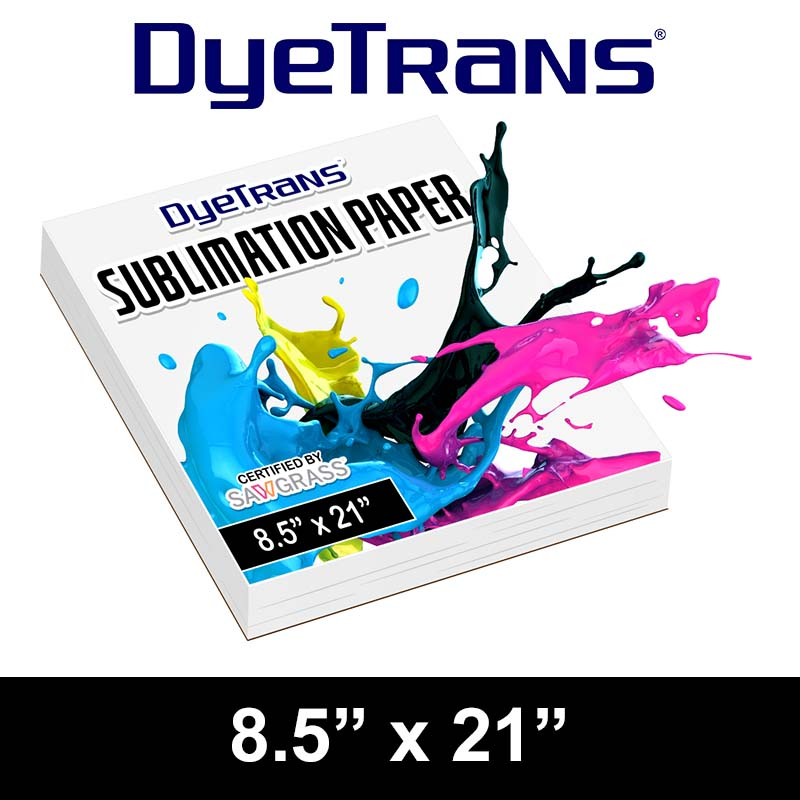 DyeTrans Multi-Purpose Sublimation Transfer Paper - 100 Sheets - 8.5 x 21