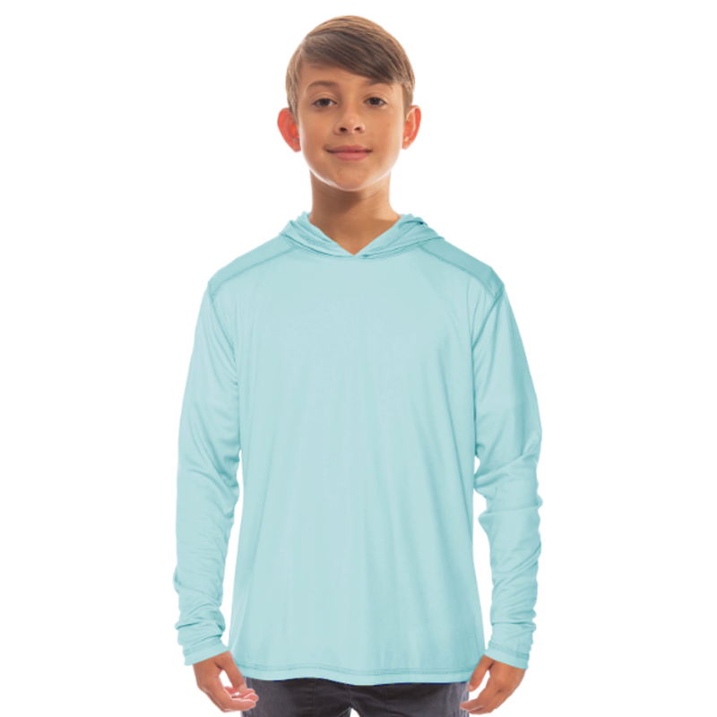 Vapor Youth Solar Long Sleeve Hoodie - Arctic Blue