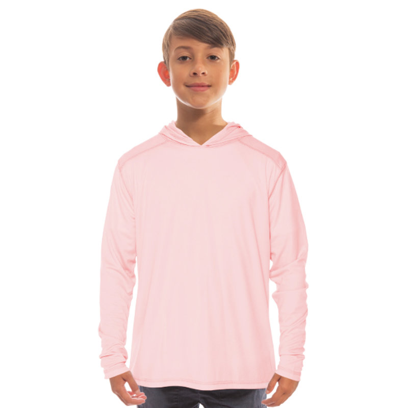 Vapor Youth Solar Long Sleeve Hoodie - Pink Blossom