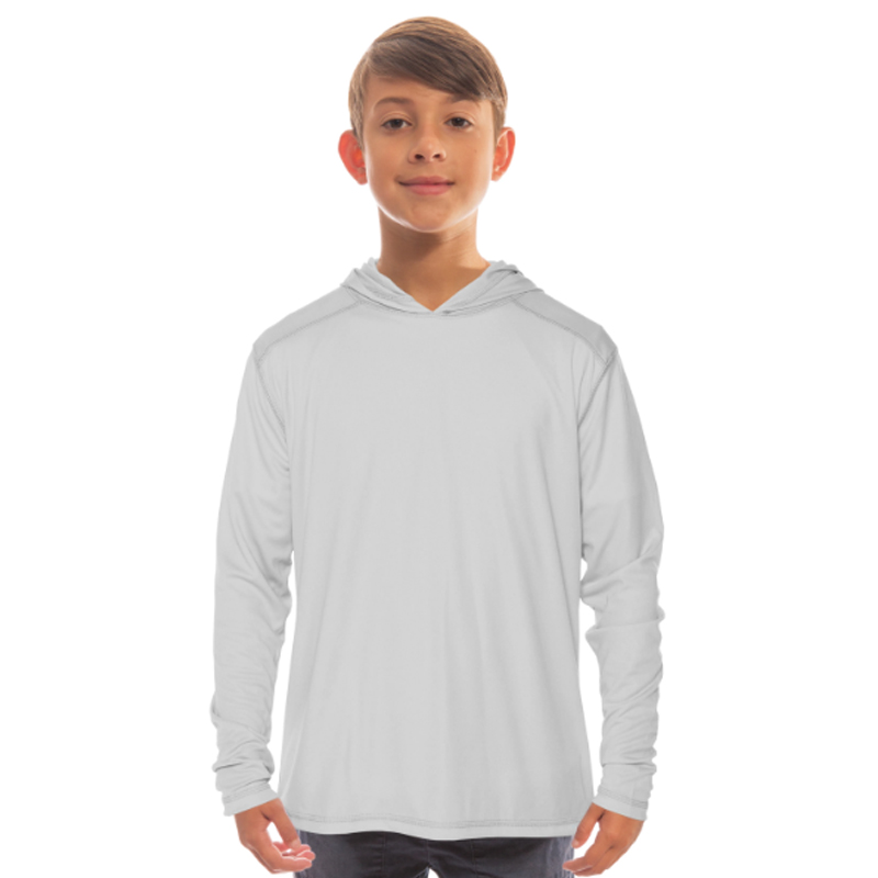 Vapor Youth Solar Long Sleeve Hoodie - Pearl Grey