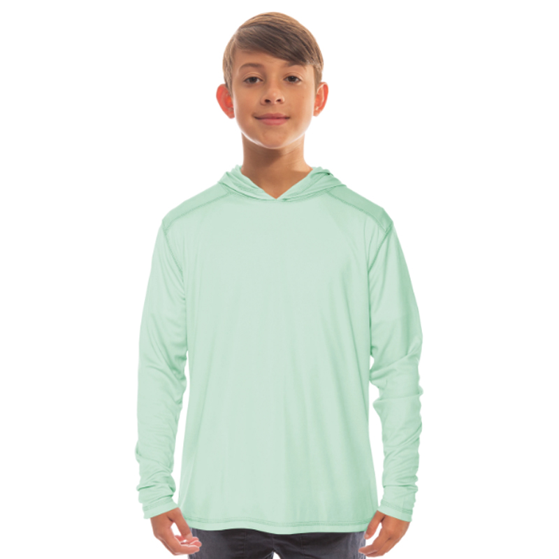 Vapor Youth Solar Long Sleeve Hoodie - Seagrass