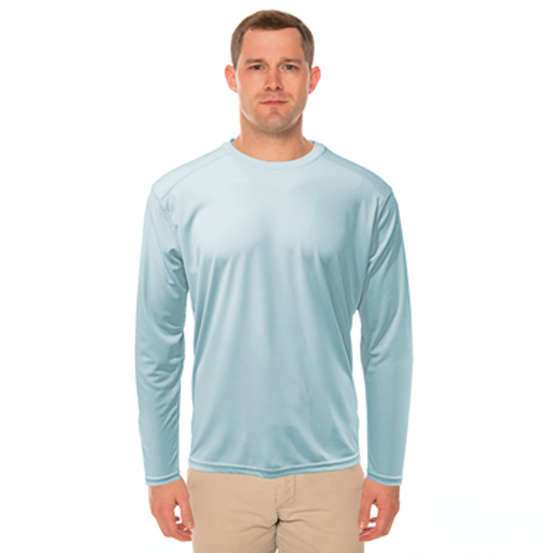 Arctic Blue Vapor® Performance Repreve Long Sleeve Tee - Adult