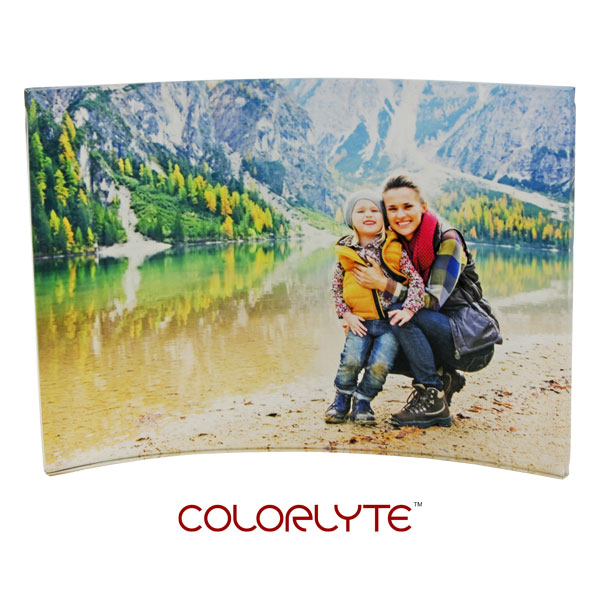 ColorLyte Sublimation Blank Curved Acrylic Photo Panel - 5 x 7