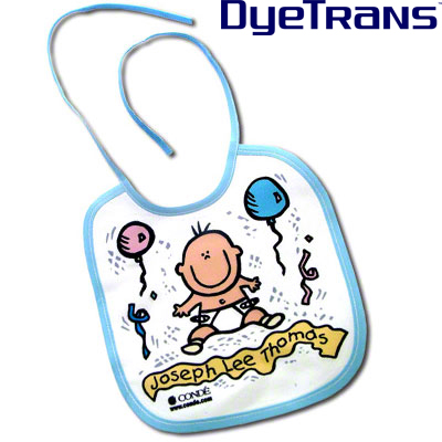 DyeTrans Sublimation Blank Baby Bib  8