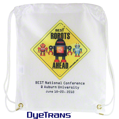 Drawstring Sports Bag Backpack - 100% Polyester