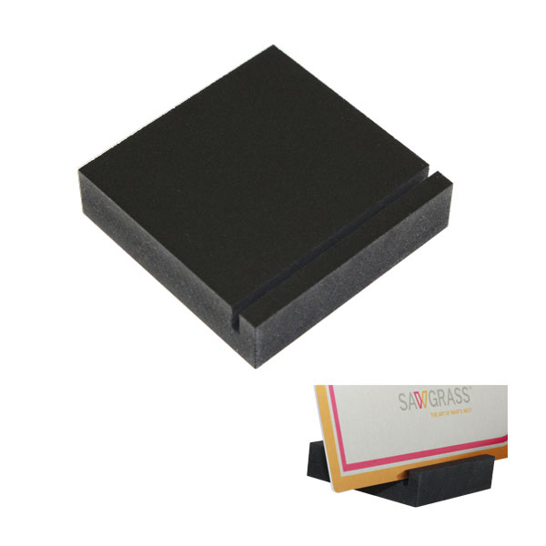 3/4 inch Thick Slotted Block Display Base - Black