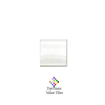 2x2 White Gloss DyeTrans™ Value Tile
