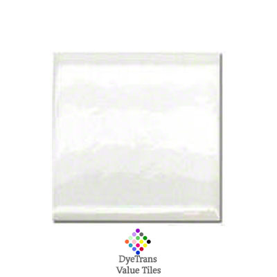 4x4 DyeTrans™ Value Tile - White Gloss