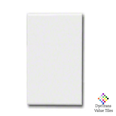 8x12 DyeTrans™ Value Tile - White Gloss