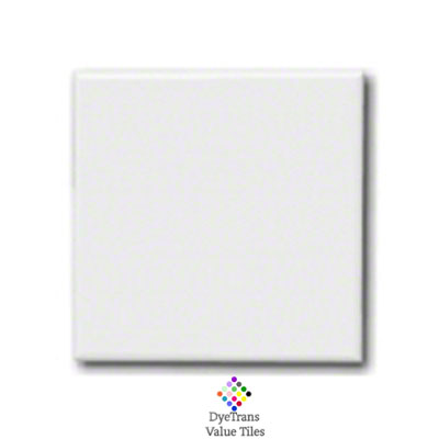 Sublimation Blank Ceramic Value Tile - 8