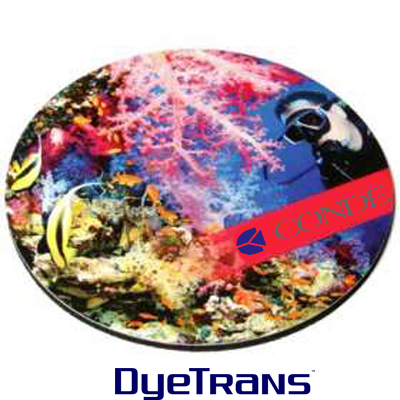 DyeTrans Sublimation Blank Coaster - 4 Round - 2.5mm - Black-Backed