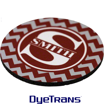 DyeTrans Rubber Round Coaster - 5.5mm thick -Black