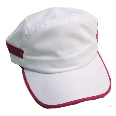 DyeTrans™ Sports Cap - White with Pink Trim