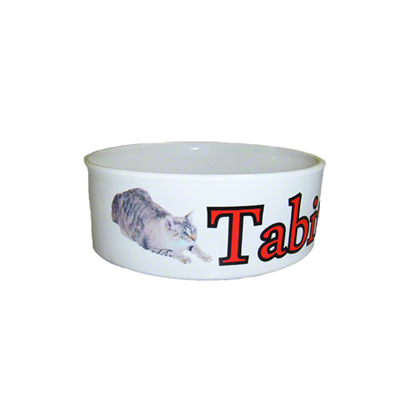 Sublimation Small Pet or Cat Ceramic Bowl