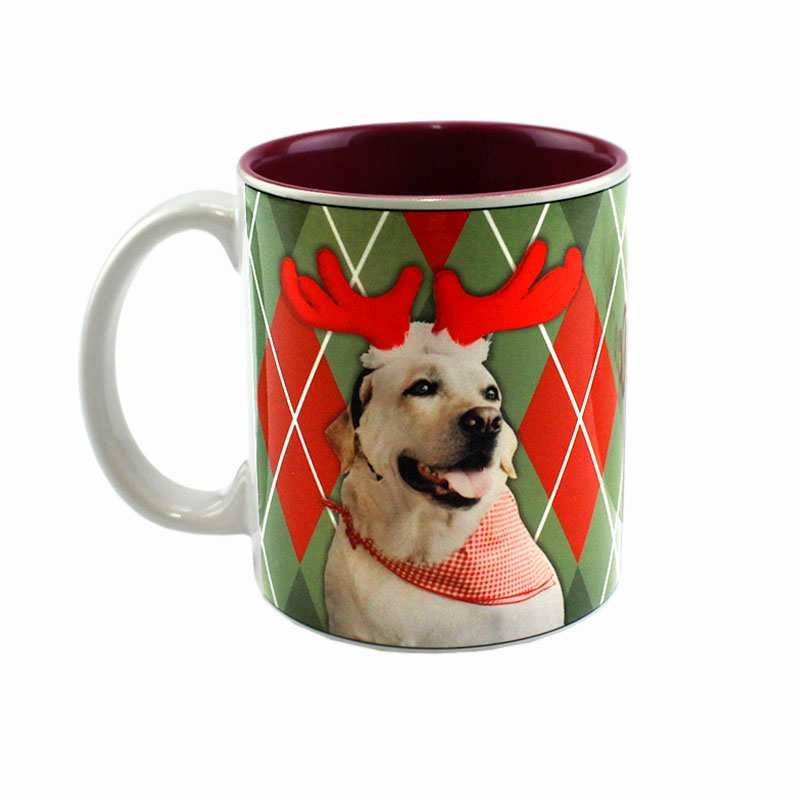 Deco Sublimation Blank Ceramic Mug - White w/Maroon Interior - 11 oz