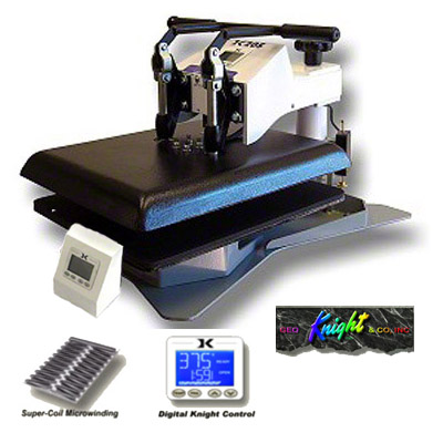 DK20S Swing Away Digital Heat Press - Double Heat