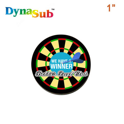 DynaSub Sublimation Blank Aluminum Lapel Pin Insert - 1