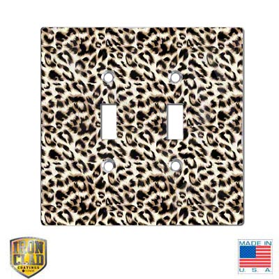 Jumbo Duplex Double Sublimation Blank Switch Plate - White Gloss