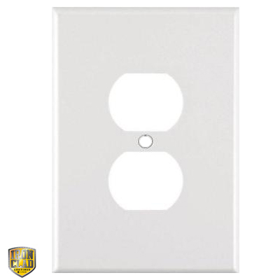 Jumbo Duplex Single Sublimation Blank Outlet Cover - White Gloss
