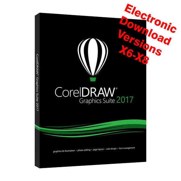 CorelDRAW 2017 Suite Upgrade - Electronic Download