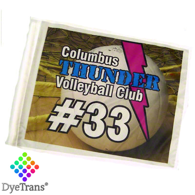 DyeTrans Sublimation Blank Car Flag - 11 x 15 - Single-Ply - No Pole