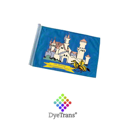 DyeTrans Sublimation Blank Car Flag - 7.5 x 10.5 - Double-Ply - No Pole
