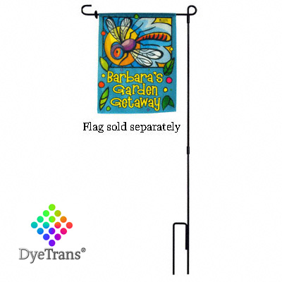 39.25 Garden Flag Hanger Pole -Wrought Iron Stake