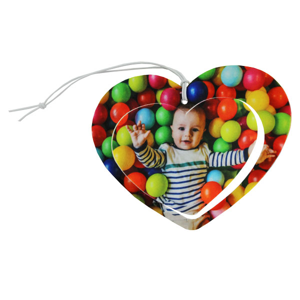 DyeTrans Sublimation Blank 3D Felt Ornament - Heart - 4.75