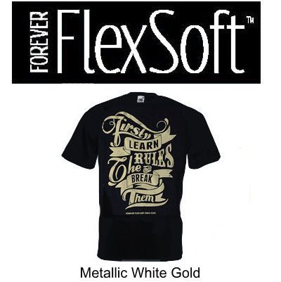 Forever Flex-Soft No-Cut Transfer Paper - 11 x 17 - 25 Sheet Pack - White Gold Metallic