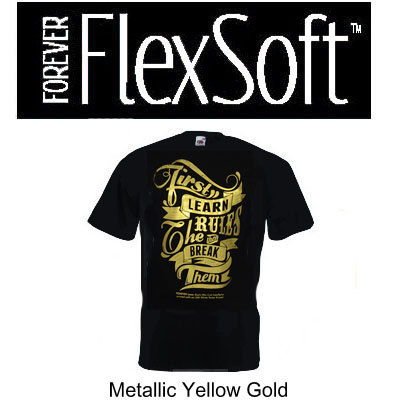 8.5x11 Forever Flex Soft  - Metallic Yellow Gold