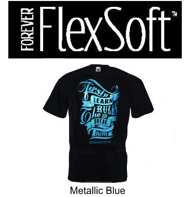 8.5x11 Forever Flex Soft No Cut - Metallic Blue