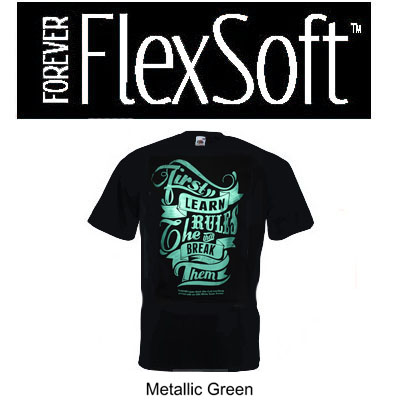 8.5x11 Forever Flex Soft No Cut - Metallic Green