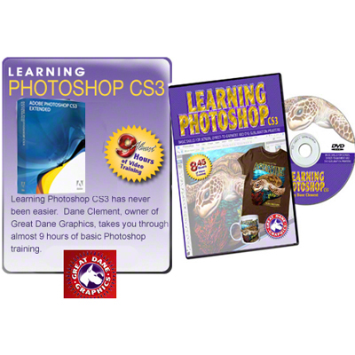 Great Dane Graphics Learning Photoshop CS3 DVD