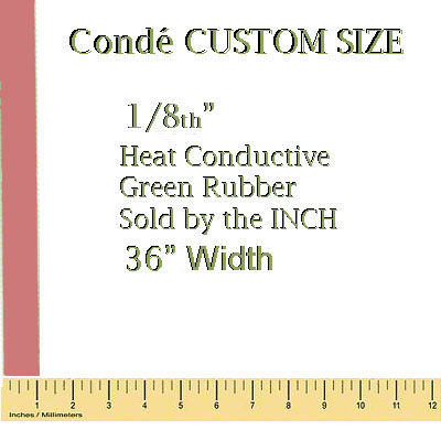 1/8 Heat Conductive Red Rubber Pad - By the Inch