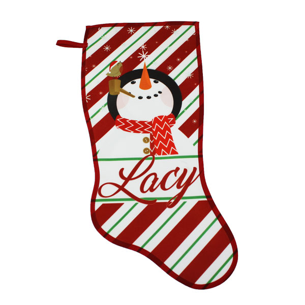 21 Canvas with Red Trim Holiday Stocking