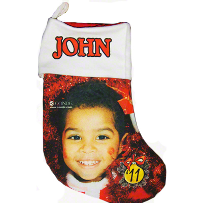 13.5 Gaming Cloth Red Lined Holiday Stocking