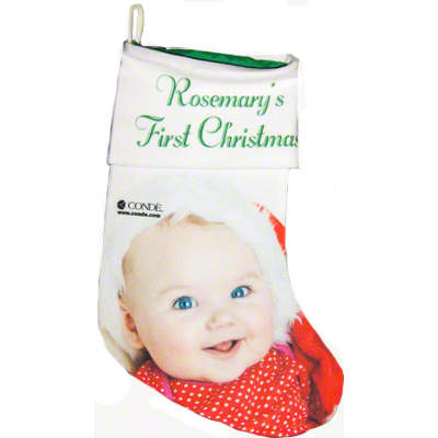 13.5 Gaming Cloth Green Lined Holiday Stocking