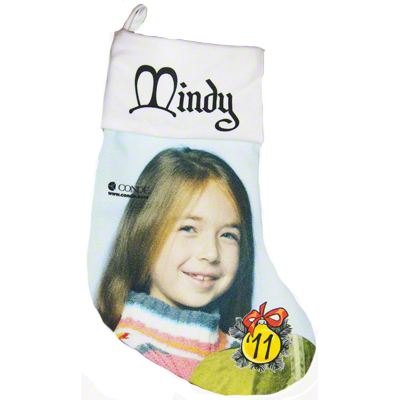 13.5 White Gaming Cloth Christmas Stocking