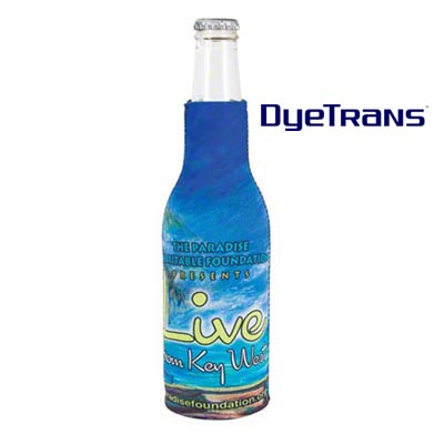 DyeTrans Sublimation Blank Scuba Foam Slip-On Bottle Hugger - Fits 12oz Bottle