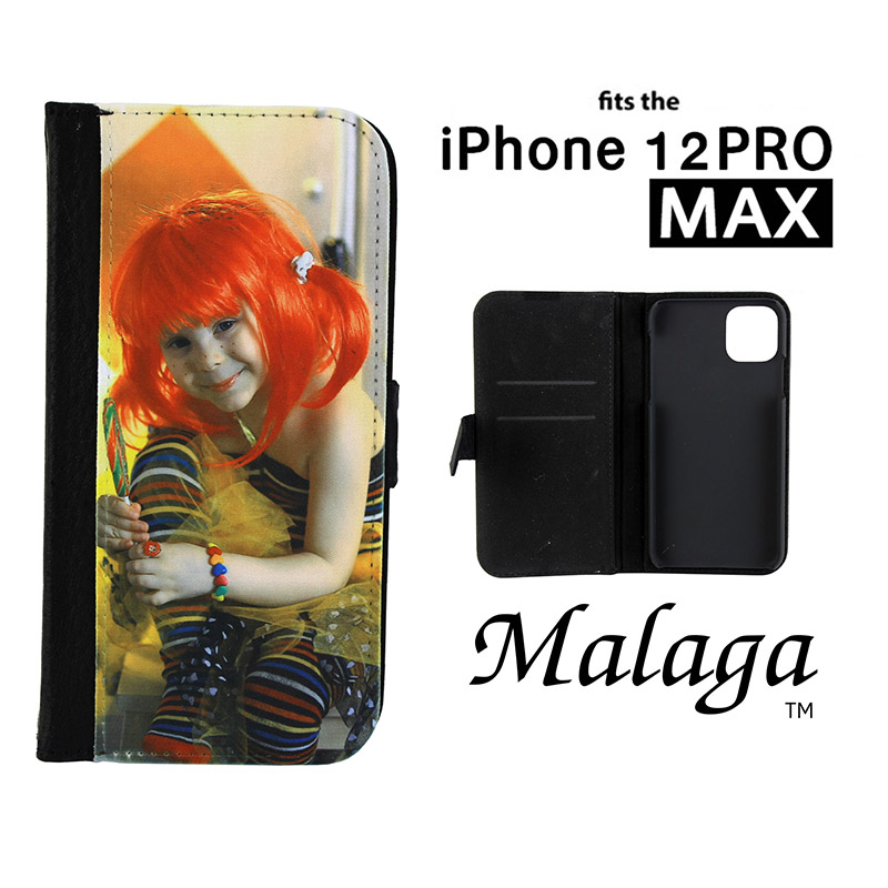 iPhone® 12 Pro Max Malaga Notebook Sublimation Blank Case - Black