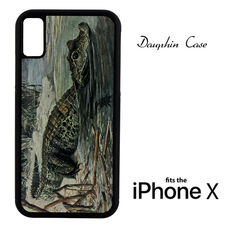 iPhone® X/XS Dauphin™ Sublimation Rubber Case - Black w/ White Aluminum Insert