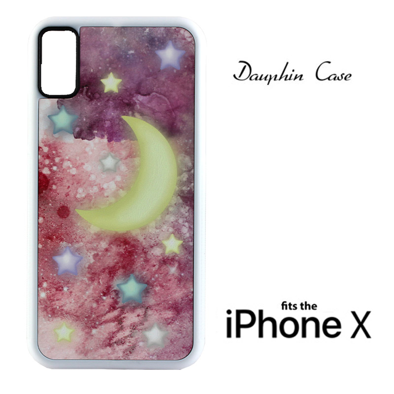 iPhone® X/XS Dauphin™ Sublimation Rubber Case - White w/ White Aluminum Insert
