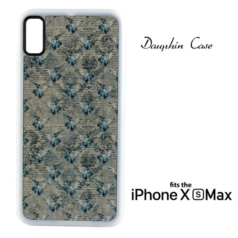 iPhone® XS Max  Dauphin™ Sublimation Rubber Case - White w/ White Aluminum Insert