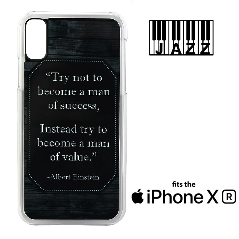 iPhone® XR Jazz™ Sublimation Plastic Case - Clear w/ White Aluminum Insert