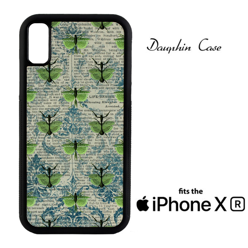 iPhone® XR Dauphin™ Sublimation Rubber Case - Black w/ White Aluminum Insert