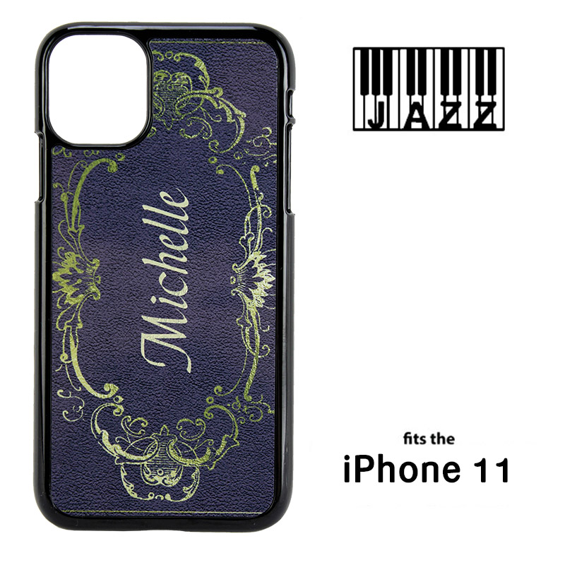 iPhone® 11 Jazz™ Sublimation Blank Plastic Case - Black w/ Aluminum Insert
